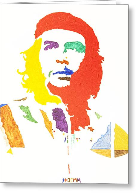 Crisis Of Leader Greeting Cards - Che Guevara Greeting Card by Stormm Bradshaw