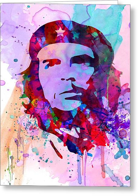 Liberation Greeting Cards - Che Guevara Watercolor 2 Greeting Card by Naxart Studio