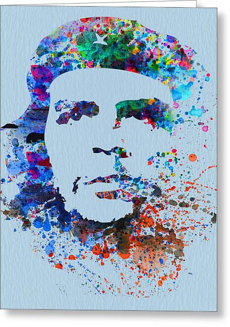 Che Guevara Greeting Cards - Che Guevara Watercolor Greeting Card by Naxart Studio