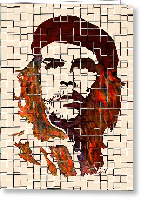 Che Greeting Cards - Che Guevara watercolor painting Greeting Card by Georgeta Blanaru