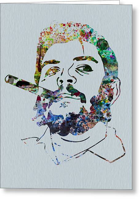 Che Guevara Greeting Cards - Che Watercolor Greeting Card by Naxart Studio