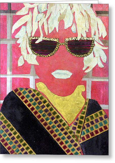 Diane Fine Greeting Cards - Cheap Sunglasses Greeting Card by Diane Fine