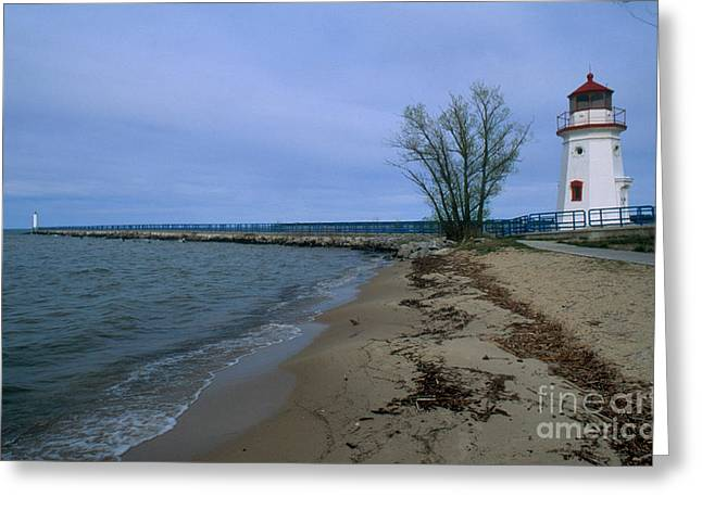 Huron Coast Greeting Cards - Cheboygan Crib Lighthouse, Mi Greeting Card by Bruce Roberts