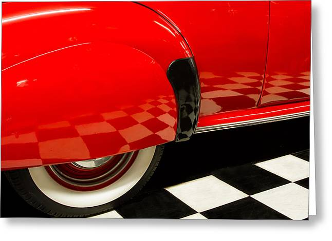 Checkerboard Floor Greeting Cards - Checkerboard Floor Reflections Greeting Card by Lindley Johnson