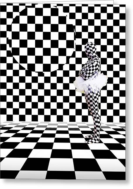 Photorealism Greeting Cards - Checkered Greeting Card by Bruce Iorio