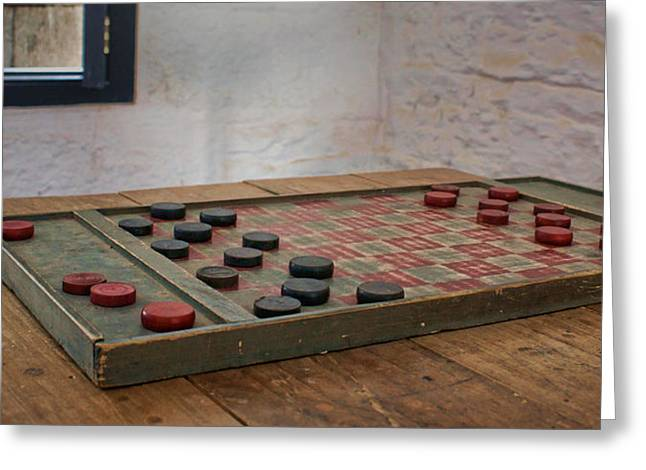 Checker Board Greeting Cards - Checkered Past Greeting Card by Nikolyn McDonald