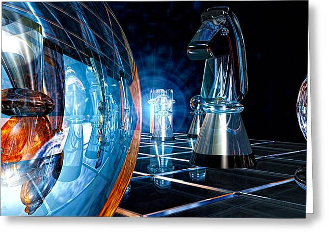 Chess Piece Digital Greeting Cards - Checkmate Greeting Card by Bob Orsillo