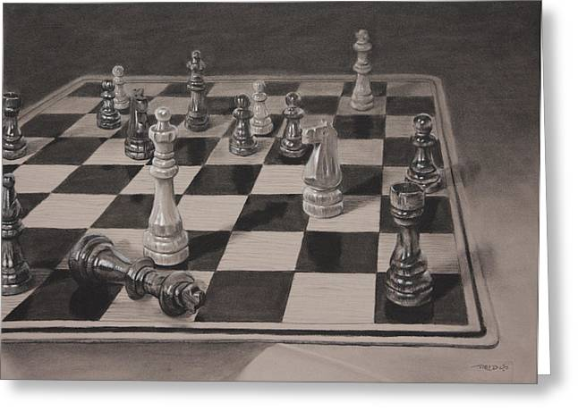 Chess Greeting Cards - Checkmate Greeting Card by Christopher Reid