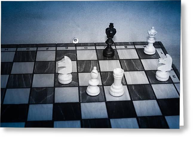 Checkmate Greeting Cards - Checkmate Greeting Card by David Jones