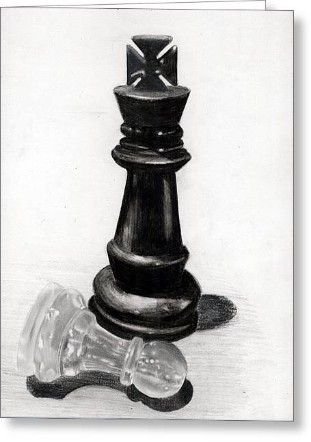 Checkmate Greeting Card by Ilshad Luckhoo