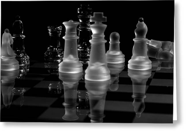 Checkmate Greeting Cards - Checkmate Greeting Card by Louis Shackleton