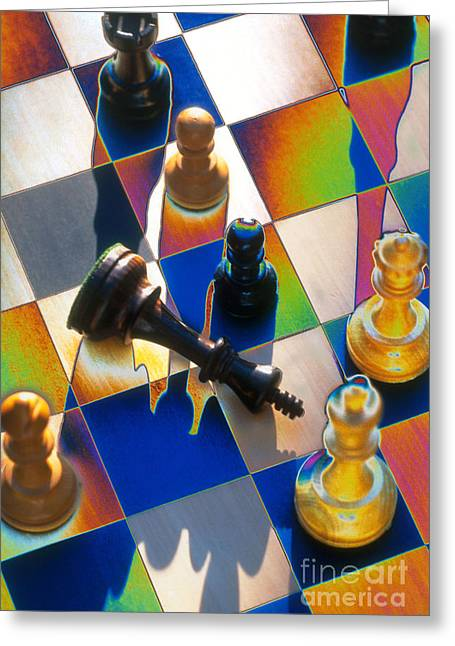 Chess Piece Greeting Cards - Checkmate Greeting Card by Mike Agliolo