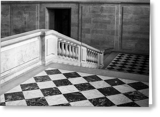 Checkerboard Floor Greeting Cards - Checkmate Greeting Card by Nikolyn McDonald