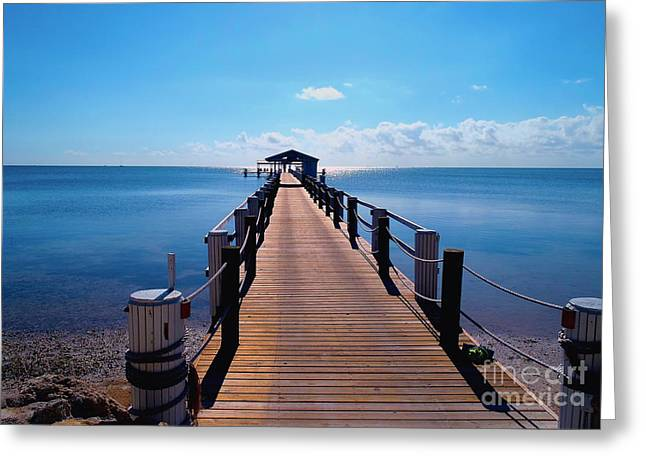 Robbies Greeting Cards - Cheeca pier Greeting Card by Carey Chen