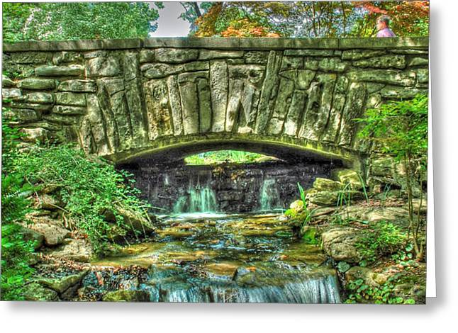 Cheekwood Bridge Greeting Card by Zachary Cox