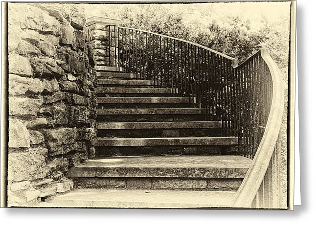 Best Sellers -  - Cheekwood Greeting Cards - Cheekwood Stairs Cropped Greeting Card by Mark Furnell