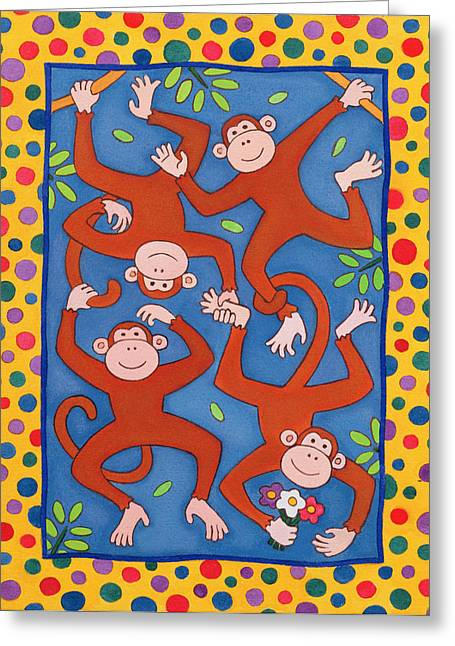 Branches Photographs Greeting Cards - Cheeky Monkeys Wc Greeting Card by Cathy Baxter