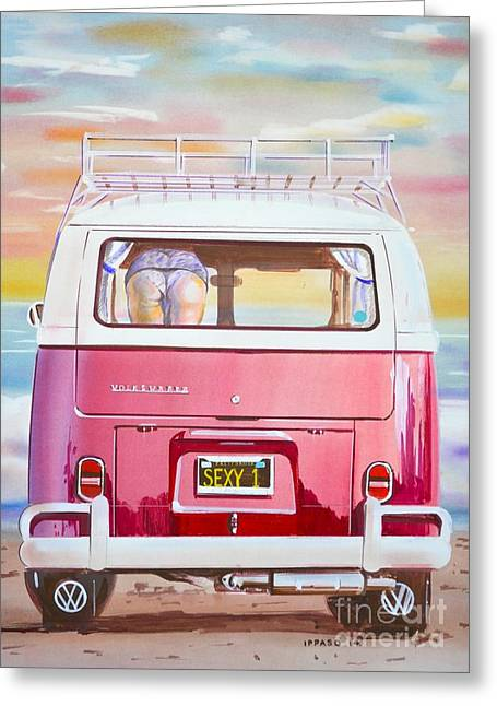Butt Cheeks Greeting Cards - Cheeky VW Greeting Card by Marco Ippaso