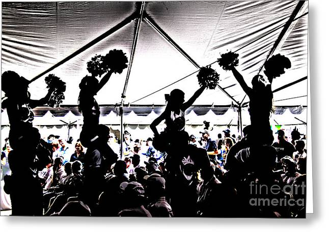 Rally Greeting Cards - Cheer Silhouette Greeting Card by Tom Gari Gallery-Three-Photography