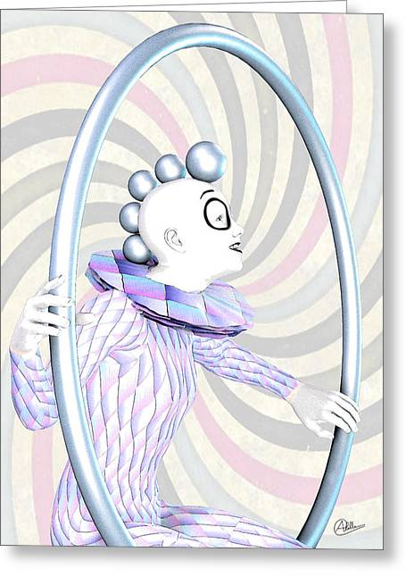 Pierrot Greeting Cards - Cheerful Harlequin Greeting Card by Joaquin Abella