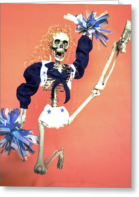 Dia De Los Muertos Greeting Cards - Cheerleader  Greeting Card by Sandra Lewis
