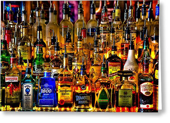 Label Greeting Cards - Cheers - Alcohol Galore Greeting Card by David Patterson