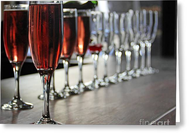 Cheers Greeting Card by Bob Hislop