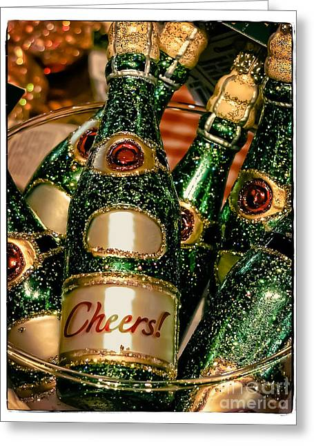 Sparkling Wine Greeting Cards - Cheers Greeting Card by Colleen Kammerer