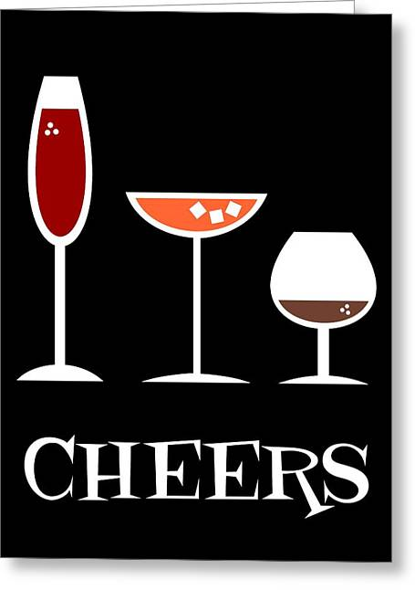 Toasting Digital Greeting Cards - Cheers Greeting Card by Donna Mibus