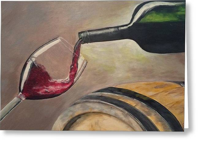 Wine Pouring Greeting Cards - Cheers Greeting Card by Michelle Ferrell