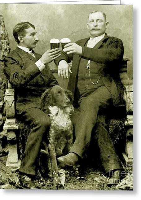 Crusader Greeting Cards - Cheers to Beer Greeting Card by Jon Neidert
