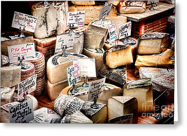 Showcase Greeting Cards - Cheese Shop Greeting Card by Olivier Le Queinec