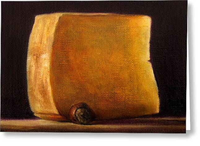 Lebensmittel Greeting Cards - Cheese with Hazelnut Greeting Card by Ulrike Miesen-Schuermann
