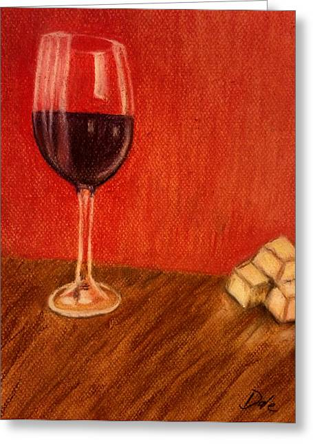 Cheeses Pastels Greeting Cards - Cheese With Your Wine Greeting Card by Dale Bradley