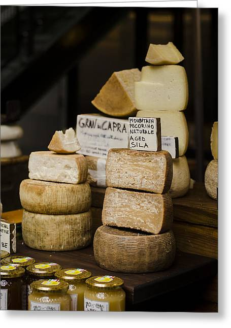 Monger Greeting Cards - Cheesemonger Greeting Card by Heather Applegate