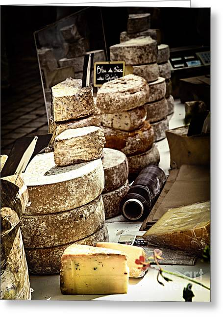 Assorted Greeting Cards - Cheeses on the market in France Greeting Card by Elena Elisseeva