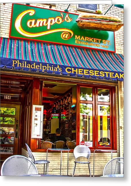 Phillie Photographs Greeting Cards - Cheesesteak Greeting Card by Frank Savarese