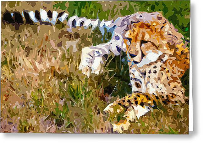 Cheetah 2 Greeting Card by Brian Stevens