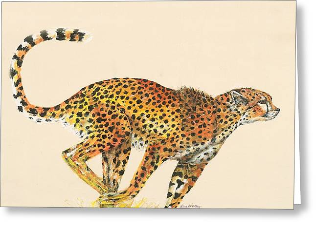 Lisa Bentley Greeting Cards - Cheetah Painting Greeting Card by Lisa Bentley