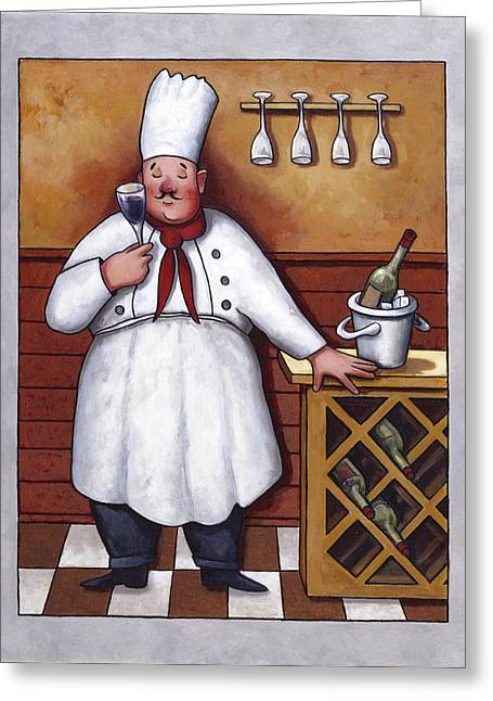 Wine Rack Greeting Cards - Chef 2 Greeting Card by John Zaccheo