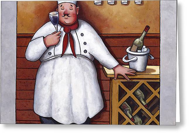 Chef 2 Greeting Card by John Zaccheo