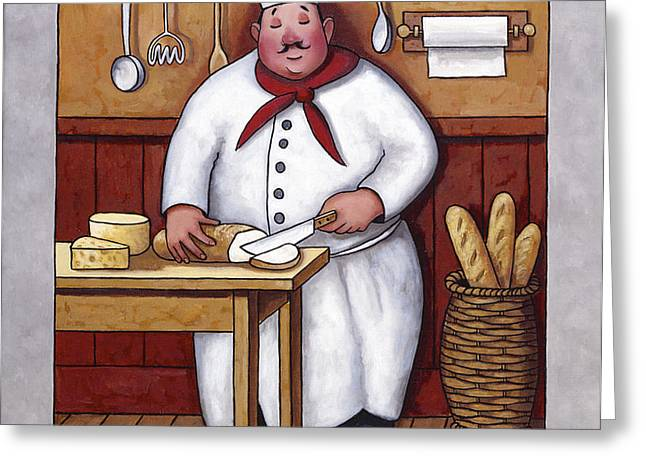 Chef 3 Greeting Card by John Zaccheo