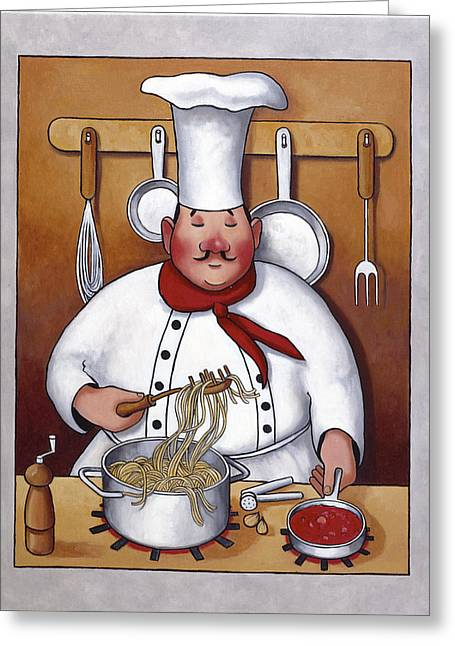 Zaccheo Greeting Cards - Chef 4 Greeting Card by John Zaccheo