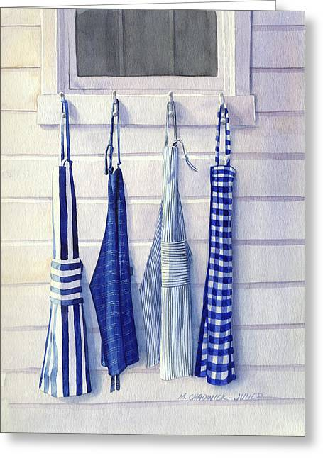 Apron Greeting Cards - Chef Blues Greeting Card by Marguerite Chadwick-Juner