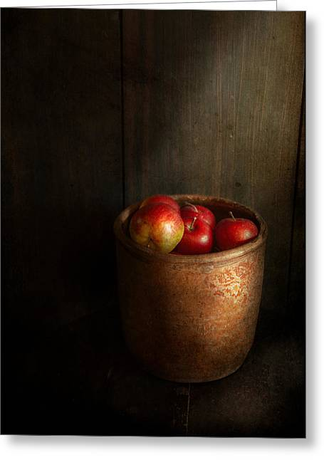 Gifts For A Cook Greeting Cards - Chef - Fruit - Apples Greeting Card by Mike Savad