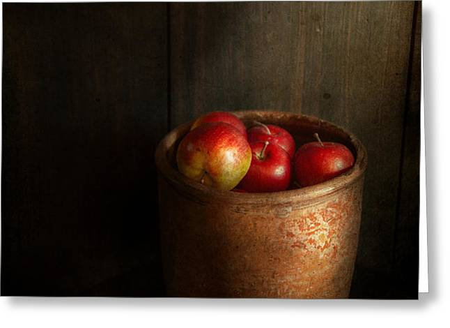 Chef - Fruit - Apples Greeting Card by Mike Savad