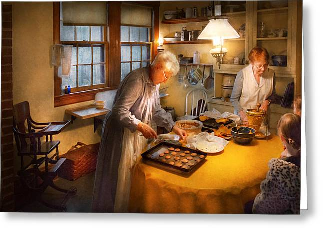 Chef - Kitchen - Coming Home For The Holidays Greeting Card by Mike Savad
