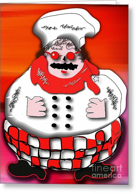 Home Greeting Cards - Chef Greeting Card by Marvin Blaine