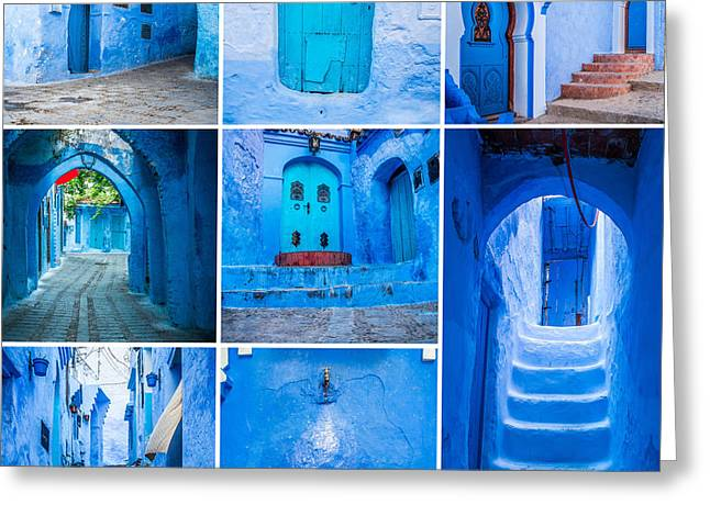 Chefchaouen Collage Greeting Card by Sabino Parente