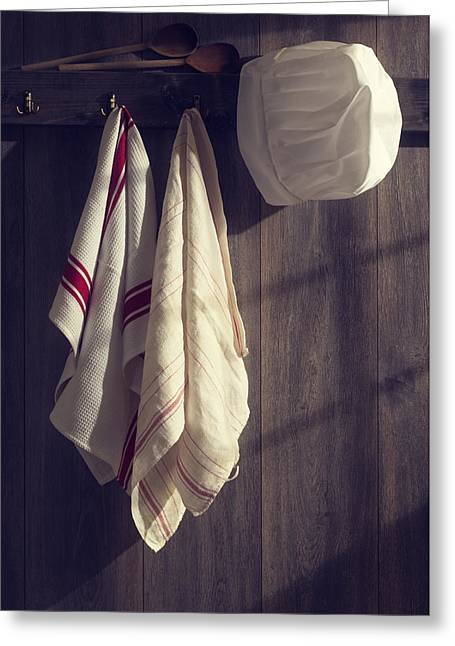 Kitchen Wall Greeting Cards - Chefs Hat Greeting Card by Amanda And Christopher Elwell